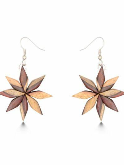 Boucles d'oreilles Floria, bicolore, www.LaTribu.shop