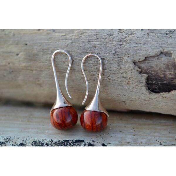 Boucles d'oreilles Goutte, acajou, www.LaTribu.shop (2)