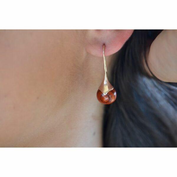 Boucles d'oreilles Goutte, acajou, www.LaTribu.shop (3)