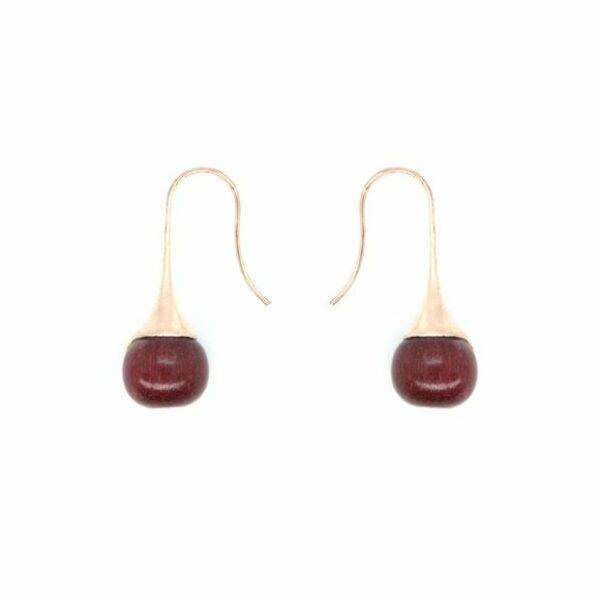 Boucles d'oreilles Goutte, amarante, www.LaTribu.shop