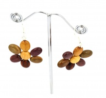 Boucles d'oreilles Lisa, Multibois, www.LaTribu.shop