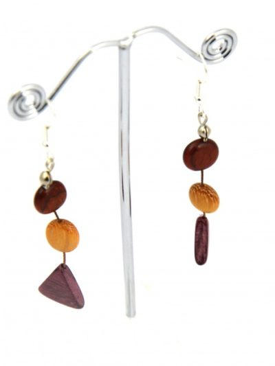 Boucles d'oreilles Mariana, multibois, www.LaTribu.shop (2)
