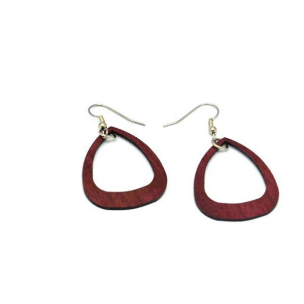Boucles d'oreilles Sylvie, acajou, www.LaTribu.shop (2)
