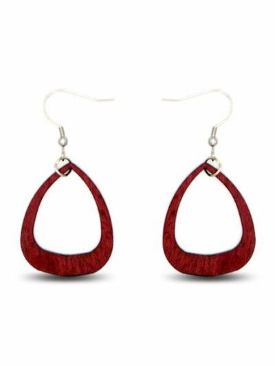 Boucles d'oreilles Sylvie, acajou, www.LaTribu.shop