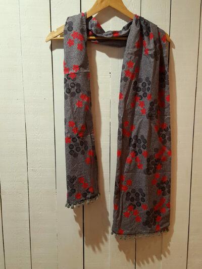 Foulard Kali-Yog, Flospi Grey, www.LaTribu.shop (1)