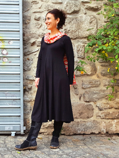 Robe Kali-Yog Tatiana (Black), www.LaTribu.shop (2)
