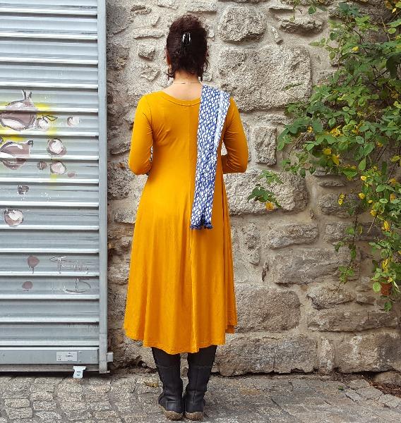Robe Kali-Yog Tatiana (Mustard), www.LaTribu.shop (3)