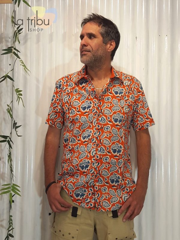 Chemise à fleurs hippie KaliYog (1)