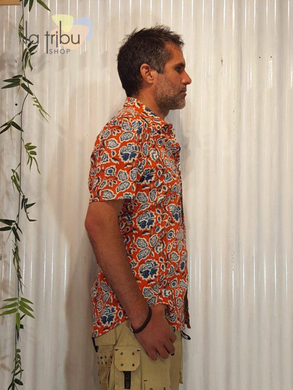 Chemise à fleurs hippie KaliYog (2)