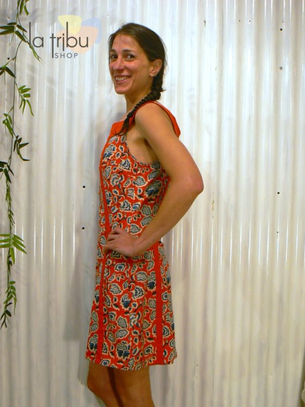 Robe courte hippie fleurie KaliYog (2)