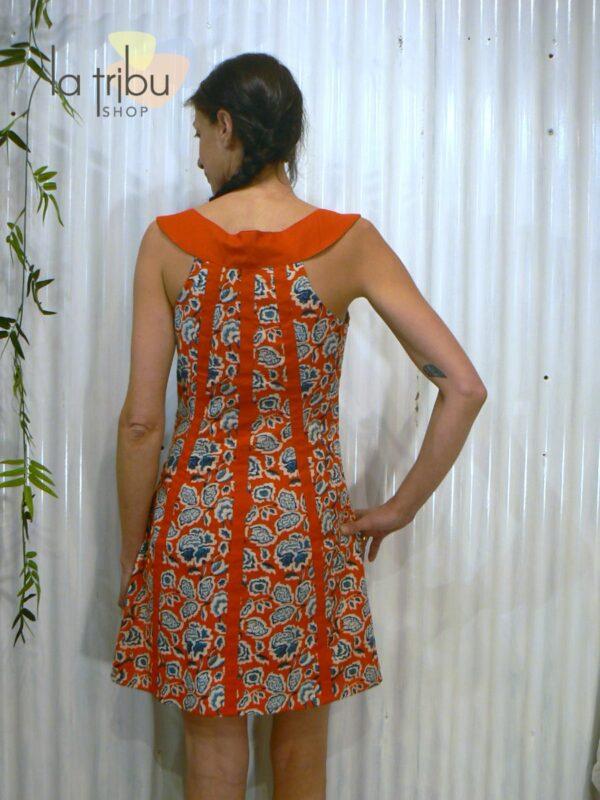 Robe courte hippie fleurie KaliYog (3)