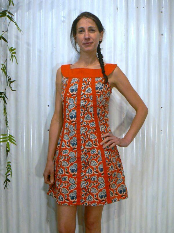 Robe courte hippie fleurie KaliYog (5)