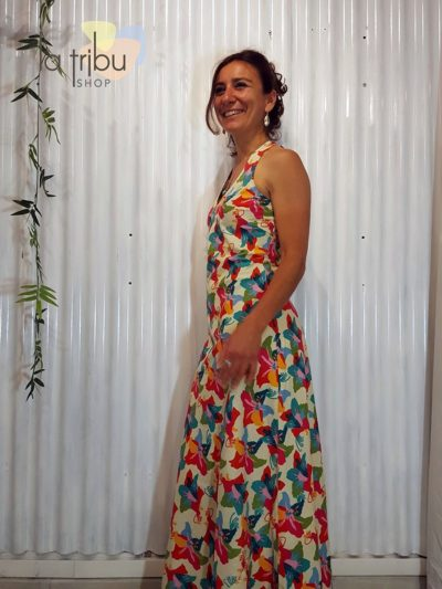 Robe longue colorée hippie-chic KaliYog (2)