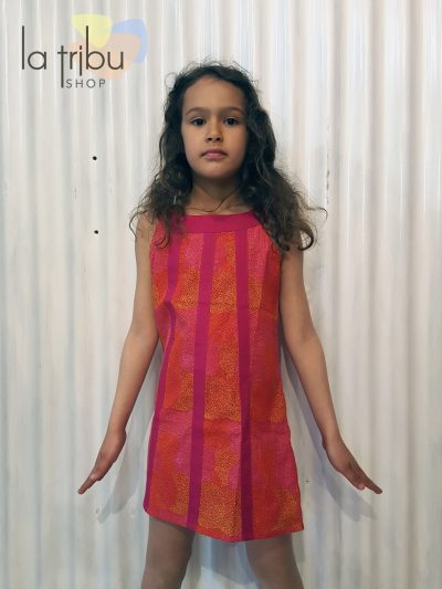 Robe enfant Kali-Yog Cléo, Dot ball red, www.LaTribu.shop (1)