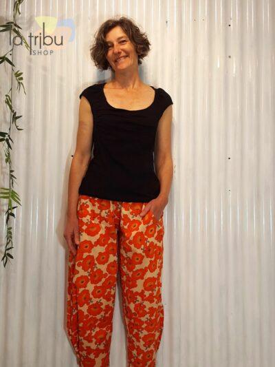Pantalon bohème fleuri Kali-Yog (1)