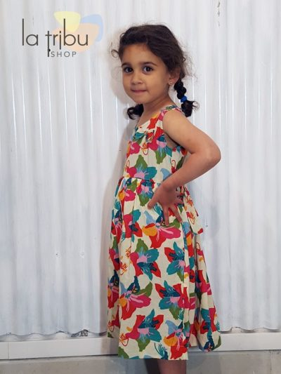 Robe enfant fleurie bohème chic KaliYog (2)