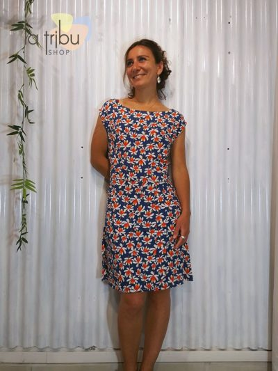 Robe Princesse Nomade Edith 5, Navy, www.LaTribu.shop (1)