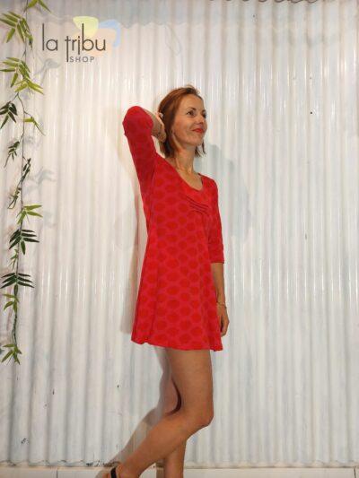 Robe tunique rouge BlaBla (2)