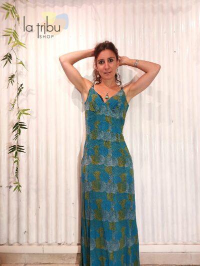 Robe Kali-Yog Chacha, Dot ball blue, www.LaTribu.shop (1)