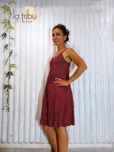 Robe hippie colorée Sinoé (2)