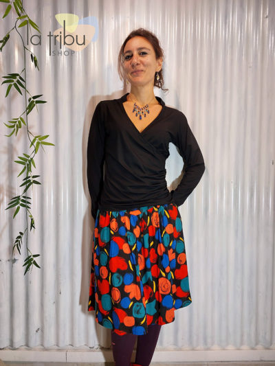 Jupe Princesse Nomade Frida 01, Black, www.LaTribu.shop (1)