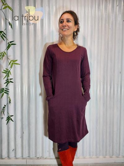 Robe hiver unie purple Kali yog