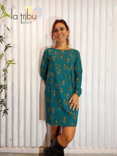 Robe Princesse Nomade Fostine 04, Dark green, www.LaTribu.shop (1)
